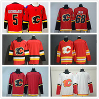 f45ce9f5d Men's 5 Mark Giordano Red Home Calgary Flames 68 Jaromir Jagr 100% Stitched  Blank Drift Fashion Stitched Road Alternate Hockey Jersey