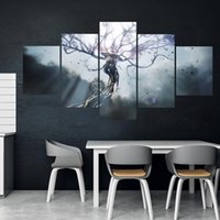 Wholesale league legends paintings resale online - Home Decor Modular Picture Piece Khada Jhin League of Legends Game Painting Poster Wall For Home Canvas Painting