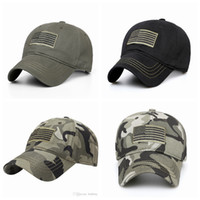 Wholesale sky cycling hat resale online - Outdoor Sport Cycling Running Hats Flag Embroidery Hat Flag Low Profile Tactical Hats Embroidered Baseball Cap LJJZ489