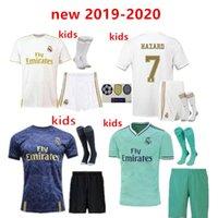 kits juveniles al por mayor-nuevo 2019 Real Madrid Kids Kit Soccer Jerseys 19/20 Inicio PELIGRO JOVIC Blanco 3ER 4to Niño Niño Juvenil Modric 2020 SERGIO RAMOS Camisetas de fútbol