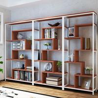 depolama dolapları bürosu toptan satış-Basit kitaplık, saklama dolabı, raf mobilyaları, yaratıcı vitrin ve vitrinlerin ofis kombinasyonu