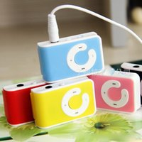 Wholesale new style card mp3 player resale online - Christmas Gift New Mini Clip USB Mp3 Player Mirror C Shape with Card Slot Support Micro SD TF Card Without Retail Box Model Style