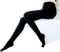 seksi külotlu çorap ayakları toptan satış-2018 Artı Boyutu Sıcak Klasik Seksi Artı Boyutu Kadın 600 Den Opak Ayaklı Tayt Külotlu Kalın Tayt Çorap Antibiyozis Kadın Tayt