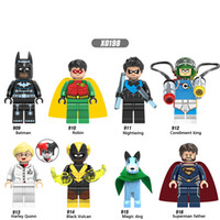 Wholesale dc superman figure for sale - X0198 DC Superhero Figure Superman Father Magic Dog Batman Nightwing Harley Quinn Black Vulcan Robin Building Blocks Brick Toys