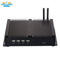intel-prozessoren porzellan großhandel-IPC lüfterloser Mini Industrie PC mit Intel Windows I5 3317U Prozessor und Dual LAN 4 * RS232 COM Port