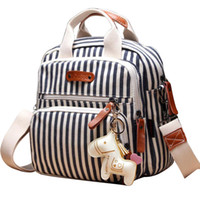 Wholesale diaper bags strollers resale online - Multifunction Diaper Bag Backpack Mother Care Hobos Bags Baby Stroller Nappy Bags for Mom with Horse Ornaments Travel Backpacks