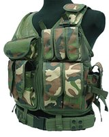 Wholesale black paintball uniform resale online - MOLLE Nylon Combat Paintball Tactical Vest Outdoor Products Vest Security Uniform Tactical