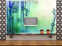 ingrosso bamboo tree painting-formato personalizzato 3d foto wallpaper soggiorno dipinto a mano albero di bambù foresta 3d immagine divano TV sfondo carta da parati non tessuto adesivo