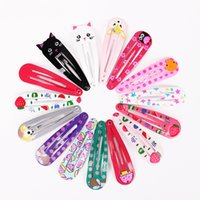 Wholesale plastic hair clips for kids resale online - 180PCS Children Snap Hair Clips Barrettes Girls Cute Hairpins Colorful Headbands for Kids Hairgrips Hair Accessories