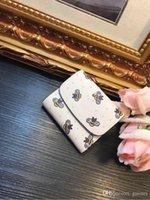 carteras de marca con descuento al por mayor-2018 Diseño de marca carpeta corta de abeja de las mujeres carpetas de la manera bolso de alta calidad carteras ventas calientes cartera populares descuento promocional Wal
