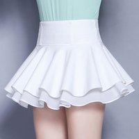 tatlı kore kızı giysileri toptan satış-Kadın Kısa Etek Tatlı Yaz Kore Tarzı Seksi kadın Miniskirts kadın Giyim Kızlar Için Kat Y19071501