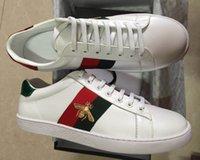 ingrosso nuovo drago-Top Quality Bee Nuove scarpe di design Bianco tigre serpente drago ACE ricamato Mens scarpe da donna in vera pelle Designer scarpe casual