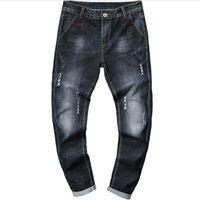 pantalones masculinos recién llegados al por mayor-Pantalones vaqueros de mezclilla de diseñador de alta calidad Pantalones rasgados Pantalones de moda Pantalones vaqueros masculinos de nueva llegada Tamaño 28-38