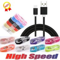 Wholesale best iphone charger cable resale online - Best seller Cell Phone Cables m braided High Speed micro Type C USB Cable Nylon Braided data cable Metal Charger data cable