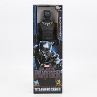 maravilha figuras de ação de super-heróis venda por atacado-30 CM Os Vingadores Superhero Pantera Negra PVC Figuras de Ação Crianças Collectible Modelo Bonecas Brinquedos Maravilhoso com RETAIL BOX