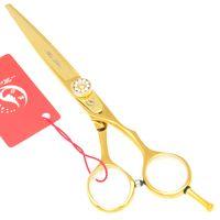 Wholesale diamond hair shears online - Meisha quot quot Golden Diamond Hair Cutting Thinning Shears Stylist Barber Trimming Tesouras Japanese CR Salon Hair Scissors HA0199