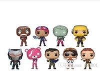 estilo de muñeca rosa al por mayor-9 Estilo Fortnite POP Plastic Doll New Kids 10 cm Juego de dibujos animados Fortnite Llama Pink Bear Figura de acción de juguete de la novedad