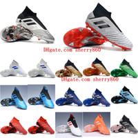 tacos de fútbol para la venta al por mayor-2019 de calidad superior venta caliente zapatos de fútbol Predator 19 FG botines de fútbol para hombre botas de fútbol Predator tango 19.1 barato Archetic