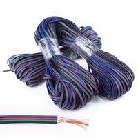 ingrosso 4pin rgb led-Cavo di prolunga 100M RGB 4Pin per cavo di collegamento 3528 5050 RGB LED Strip Lighting Cavo di prolunga