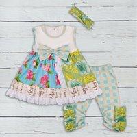 neue design-tops für mädchen großhandel-neue 2018 kinder kleidung baby frühling sommer remake kleidung baby mädchen top design rüschen hose mädchen boutique anzüge