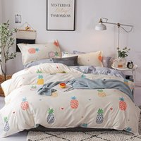 Wholesale luxury bedding sets california king resale online - Fruit Luxury Bedding Set King Size Bedding Set for Home Women Bedclothes Y200417
