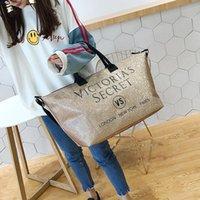 yaz tuval çantaları toptan satış-Valiz için Kız Tekerlekler Marka Mektupları Soopream Kadınlar Canvas Omuz Çantası Çanta Kadın Pu Seyahat Yaz Plaj Çantası