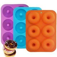 schimmelfrei großhandel-Silikon Donut Backform Full Size Donuts Antihaft-BPA-freie Donutform