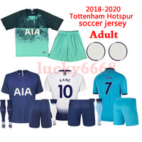 Wholesale Adult kits sock KANE spurs Soccer Jersey LAMELA ERIKSEN DELE SON jerseys Football kit shirt man KIT SET uniform