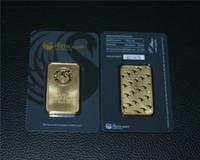 placas de artesanato venda por atacado-Austrália 1 oz Perth Mint Barra de Ouro Não Banhado Magnético 24 K Barra De Ouro, Decoração de Casa Presentes Artesanato Embalagem Selada de acrílico