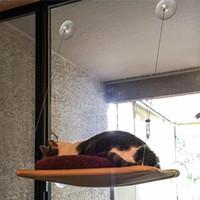 Wholesale hanging cat hammock resale online - Cute Pet Hanging Bed Bearing kg Cat Sunny Seat Window Mount Pet Cat Hammock Comfortable Cat Bed Shelf Seat Beds Pet Supplies BC VT1042