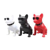 Wholesale computer dogs resale online - New Wireless Speaker Bulldog Bluetooth Speaker Portable HIFI Bass Speaker Multipurpose USB AUX Outdoor Full Dog