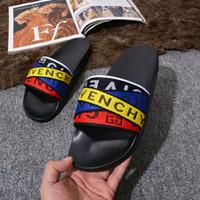 Wholesale yellow moccasins women resale online - NEW Designer Slipper Gear Bottoms Mens Women Striped Sandals Causal Non slip summer huaraches slippers flip flops slipper