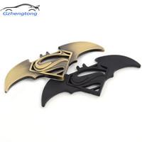emblemas do batman venda por atacado-Gzhengtong Car Styling 3D Metal Moto Etiqueta Do Carro Batman Logotipo Emblema Emblema para Carros Universal Motocicleta Acessórios Decorativos