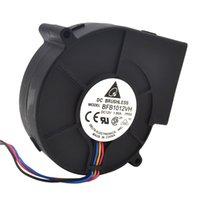 12v gebläse fans großhandel-Radialventilator Gebläse Original Delta 9733 Turbo Radialventilator Gebläse BFB1012VH 12V 1.80A Windkapazität 97 * 97 * 33mm