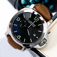 Wholesale leather hand watch resale online - Top Quality Mens Luxury Watch Genuine Leather Quartz Sport Wristwatch Man Glamour Fashion El Reloj Relogios Small Second Hand Brand Designer