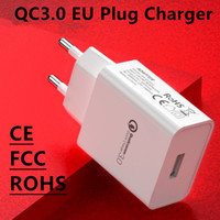 Wholesale european charger usb online – CE certified quick charge mobile phone USB charger European standard QC3 universal charging head high end foreign trade charge