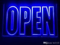 ingrosso segno del caffè principale-I097b- APERTO dell'esposizione del negozio Cafe luce al neon LED Business Sign