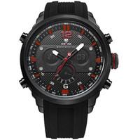 ver hombres digital china al por mayor-WEIDE WH6303 Reloj deportivo de alta calidad de la marca de fábrica del reloj del negro de la correa del silicón de los hombres de China relojes al por mayor de la muñeca