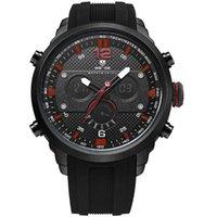 markalı saatler çin toptan satış-WEIDE WH6303 Yüksek kalite Spor marka İzle çin siyah tedarikçi silikon kayış erkekler saatler toptan bilek