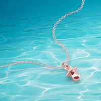 Wholesale pacifier necklaces for sale - Group buy Cute little pacifier pendant necklace ladies jewelry sterling silver necklace for women exquisite fashion gift