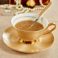xícaras de café de cerâmica preta venda por atacado-Copos e pires cerâmicos do chá da tarde chá de porcelana preto do osso com o jogo do Drinkware da porcelana da bandeja