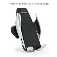 Wholesale S5 Automatic Clamping Wireless Car Charger For iphone Android Air Vent Phone Holder Degree Rotation Charging Mount Bracket