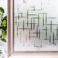 buzlu etiket toptan satış-Cottoncolors Gizlilik Filmleri No-tutkal Statik Dekoratif Buzlu Pencere Kapak Çıkartmalar Boyutu 45X200 cm Q190601