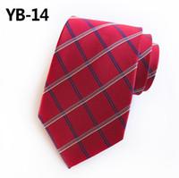 с высокой плотностью связей оптовых-Модный британский галстук в клетку с высокой плотностью 2019 года Мужской галстук