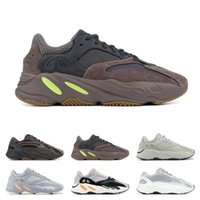 Wholesale soccer shoes red online - Wave Runner Running Shoes Salt Inertia Geode Mauve Solid Grey Static Mens Women Kanye West Trainer Sports Sneakers size