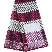 ingrosso sacchetti di paillettes lavorati a maglia-Più nuovo merletto africano tessuto ricamato nigeriano guipure francese Cord Lace tessuto di alta qualità africana francese Tessuto della rete del merletto 1508