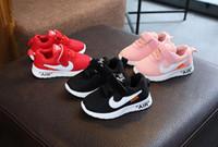 primer zapato bajo al por mayor-precio más bajo! Otoño 2019 Baby First Walkers zapatos deportivos para niños zapatos de malla zapatos para correr para niñas y niños, tamaño 21-30
