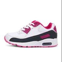 ingrosso scarpe sportive straniere-Nuove scarpe a cuscino d'aria per la vendita estera di primavera e d'estate nel 2019 Scarpe da corsa sportive per bambini e bambine WL220