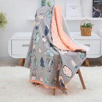 Wholesale soft silk bedding set for sale - Group buy Baby Blanket Swaddling Newborn Thermal Soft Fleece Blanket Solid Bedding Set Cotton Quilt Y200109