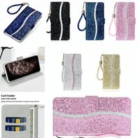 Wholesale bling wallet case plus for sale – best Glitter Bling Wallet Leather Case For Iphone PRO MAX X XS XR PLUS S Strap Stand With Card Slot Cover Luxury